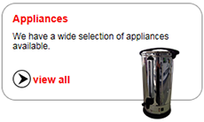 We have a wide selection of appliances available.